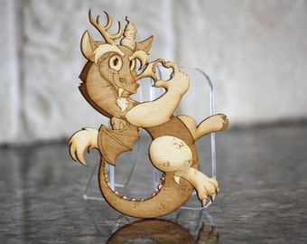 Discord - Etched wood miniature