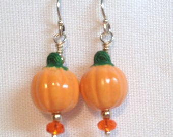 Ceramic Pumpkin Earrings