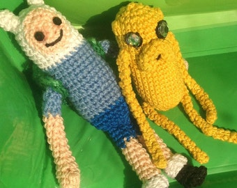 Finn and Jake / Adventure Time, Amigurumi Pattern/ Finn the Human & Jake the Dog, Stuffed toy Tutorial / Crochet PDF Patern