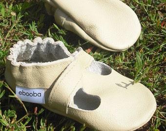 los zapatos de bebe unicos suaves Beige 12-18m ebooba SN-41-BE-M-3