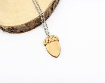 Acorn Necklace | Laser Cut Nature Jewellery