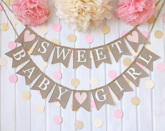 Sweet Baby Banner, Baby Shower Decorations, Baby Shower Ideas, Rustic Baby  Shower, Baby Shower Banner