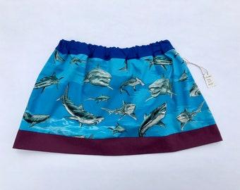 Shark skirt, girls skirt size 6/7