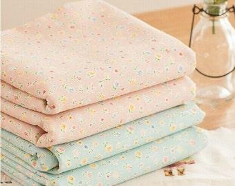 Cotton Linen Fabric Cloth -DIY Cloth Art Manual Cloth - Little Flower  51x18 Inches