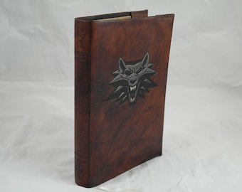 Witcher leather reusable A5 notebook