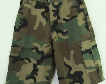 Marked Down 30%@@Boy's Vintage 80's,CARGO Style Army CAMO Shorts.12