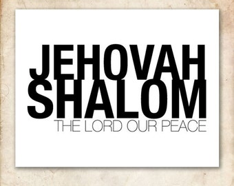 Jehovah Shalom. 8x10in. Printable Christian Poster. PDF.