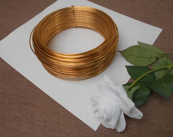 Gold aluminum wire - width 2 mm - length 3 meters
