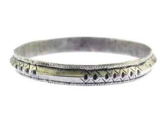 Silver Bangle Bracelet, Thin Silver Bracelet