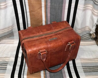 Vintage Samsonite Sonora leather overnight bag