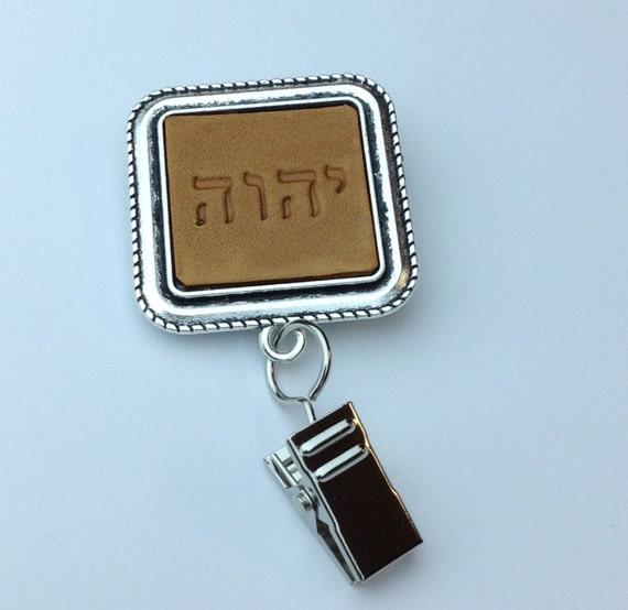 Leather JW Tetragrammaton Badge Card Holder, Optional  card holder