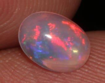 0.60 CTS Natural Ethiopian Opal Canochon Welo Fire Opal loose Gemstone Cabochon Fire Opal Good Quality Opal ##98