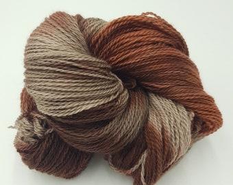 Hand Dyed 4ply Falkland Merino Wool - Bark
