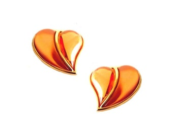 SONIA RYKIEL ~ Authentic Vintage Hearts Clip On Earrings