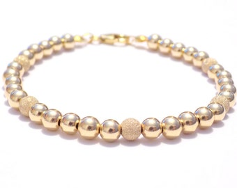 14k gold bracelet, gold bead bracelet, gold filled bracelet, bracelet, gold beaded bracelet gold,  gold bracelet, bracelet