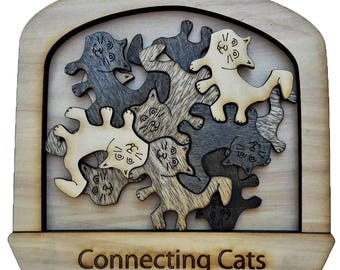 Connecting Cats tessellation puzzle.