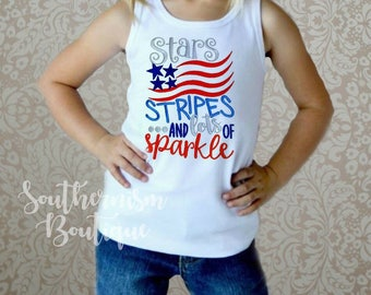 Girls July 4th shirt, 4th of July, Patriotic, Military coming home, star shirt, Patriotic girl shirt, boutique shirt, personalized, monogram