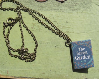 Unique Necklace The Secret Garden Book Charm Pendant