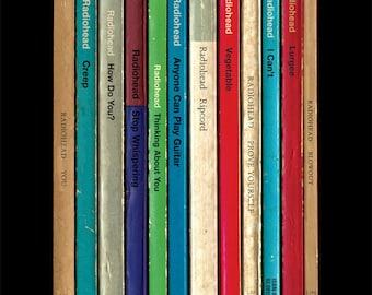 Radiohead 'Pablo Honey' Album As Books Poster Print