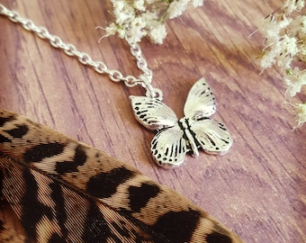 Butterfly Necklace, Butterfly Pendant, Butterfly Jewellery, Mother Nature Necklace, Nature Lover, Handmade in England, Gift for Her