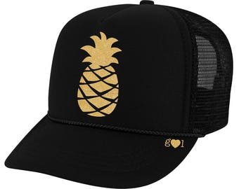 Pineapple Hat - glitter trucker hat (multiple colors)