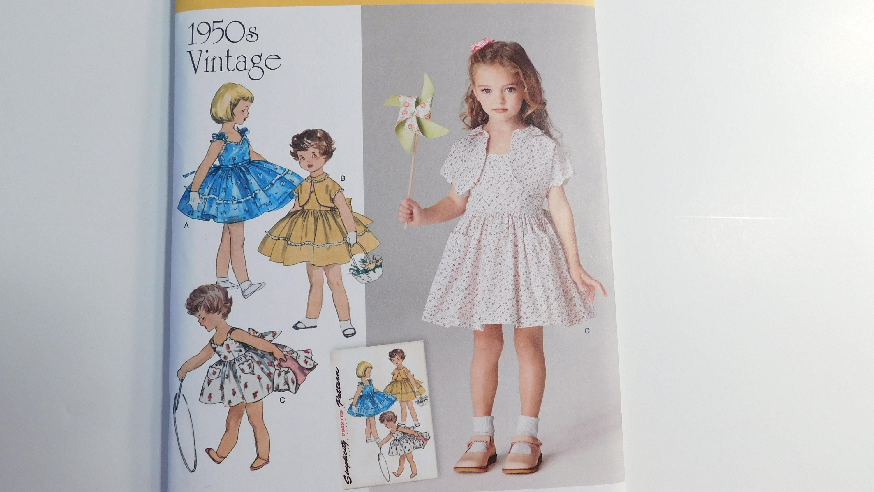 1950\'s Vintage Reprint Sewing Pattern 8103 Little Girls