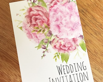 Affordable Flower Wedding Invitations -  4 Choices Available