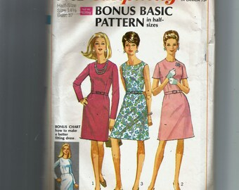 Simplicity Misses' Dresses With Two Skirts and Two Bodices Pattern 7502