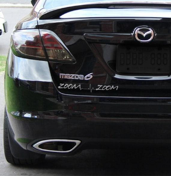 2 x zoom zoom heartbeat sticker car decal mazda mazdaspeed 3 6