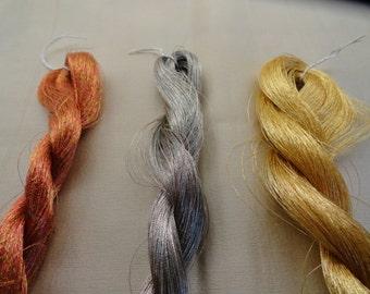 Rare Metallic Silk Threads