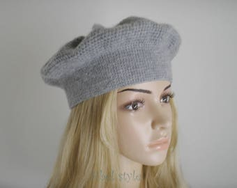 Beret crochet handmade winter cap Hat Cap toque hat, gift idea for her wife anniversary Christmas.