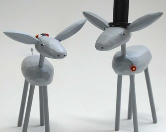 Donkey Wedding Cake Toppers   Gay and Lesbian Wedding Cake Toppers   Custom Wedding Cake Toppers