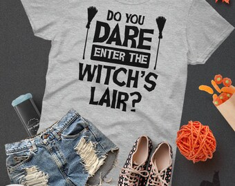 Halloween Witch Party Halloween Gift For Her Witch Gift Halloween Cute Witch Black Witch Tee Good Witch Halloween Tshirt Top Tee Witches