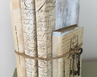 Decorative Aged Book Stack
