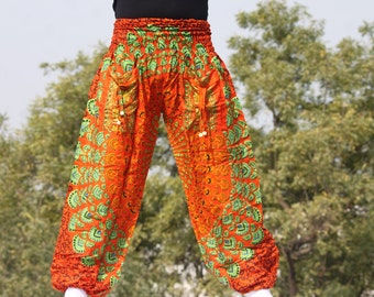 Vlisco pantaloons jogging bottoms  Stylish baggy harem pants Jogging bottoms Indian Boho Ethnic FestivalYoga Meditation free shipping