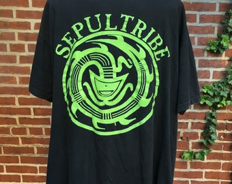 Vintage sepultura Sepultribe t shirt  means size Large