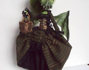 Monster High Repaint custom OOAK Victorian lady steampunk Cthulhu