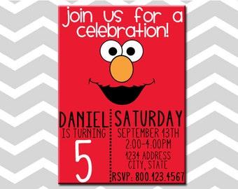Elmo Birthday Party Invitation/Card