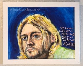 Original Kurt Cobain Nirvana Painting