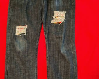 Lucky Brand custom distressed jeans