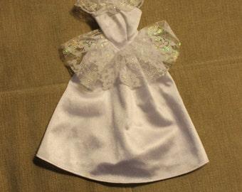 Barbie Wedding Dress, White w Lace, Realistic, Barbie Clothing, Wedding, Bride's Dress, Barbie Fashion, Bride's Fashion, Doll Clothing, Toy
