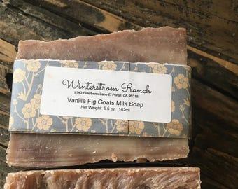 Vanilla Fig Goats milk soap