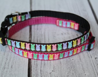 Bunny Cat Collars - Easter Cat collar - XS Easter Dog Collar - Bunny XS Dog Collar - Kitten collar - Spring Cat Collar - Bunny Rabbit Collar