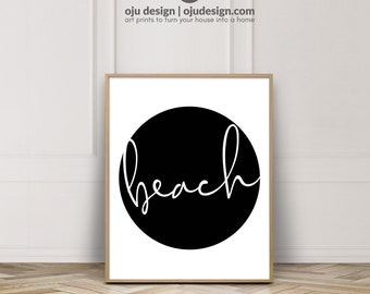 Beach House Wall Art - Beach Signs - Words Poster - Downloadable Quotes - Beach Decor Wall Art - Minimalist Typography