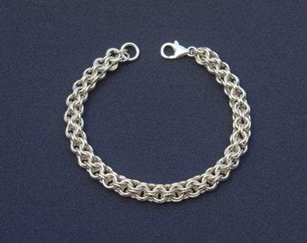 Sterling Silver 'Roundmaille' Bracelet