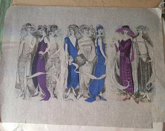 """Vintage Jack Denst wallpaper samples """"Age of Innocence """""""