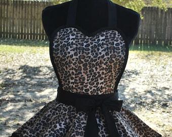 Leopard Retro Apron