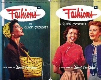 Coats & Clark's Book No. 302 Fashions in Quick Crochet 1953