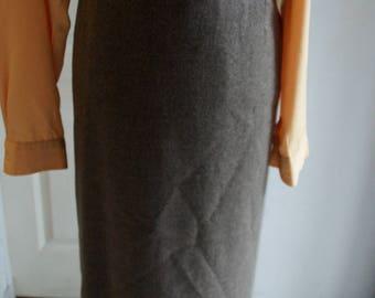 Light brown straight skirt style 1940's