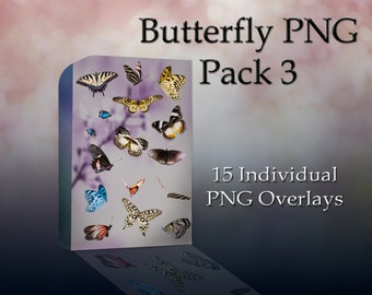 Butterfly PNG Pack 3 - Large Butterfly Cutouts - Photoshop Overlay